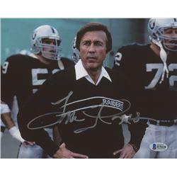Tom Flores Signed Oakland Raiders 8x10 Photo (Beckett COA)