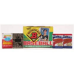 Lot of (34) Sports Card Packs with (30) 1989 Bowman Baseball Wax Packs with (12) Cards, (2) LE 1986