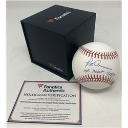 "Pete Alonso Signed OML Baseball Inscribed ""MLB Debut 3/28/19"" (Fanatics Hologram)"