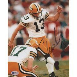Chris Jacke Signed Green Bay Packers 8x10 Photo (Beckett COA)