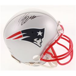 Damien Harris Signed New England Patriots Mini-Helmet (Beckett COA)