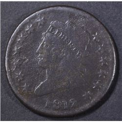 1812 LARGE CENT VG WITH CORROSION