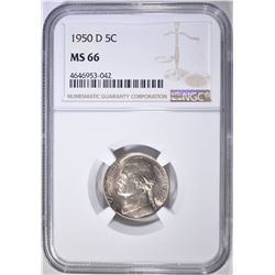 1950-D NICKEL NGC MS-66 FULL STEPS