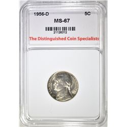 1956-D JEFFERSON NICKEL, TDCS SUPERB GEM