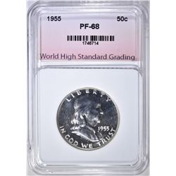 1955 FRANKLIN HALF DOLLAR, WHSG