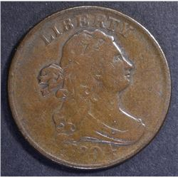 1804 HALF CENT, VF/XF