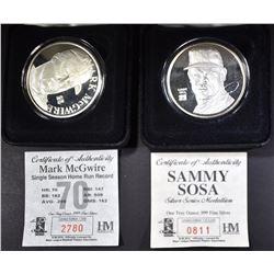 SILVER SAMMY SOSA & MARK MCGWIRE COINS