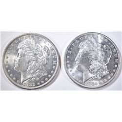 1882-O & 1904-O MORGAN DOLLARS  CH/GEM BU