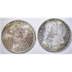 1883-O & 85-O MORGAN DOLLARS  CH BU COLOR