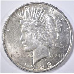 1923-D PEACE DOLLAR   CH BU