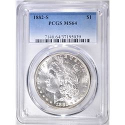 1882-S MORGAN DOLLAR  PCGS MS-64
