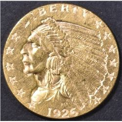 1926 $2.5 GOLD INDIAN HEAD  BU