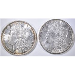 1902 & 04-O MORGAN DOLLARS AU/BU