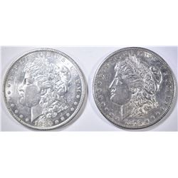 1878-S & 80-O MORGAN DOLLARS AU/BU