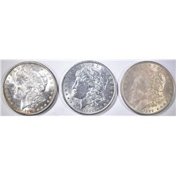 3 1889 MORGAN DOLLARS BU