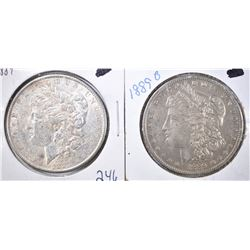1889-P,O MORGAN DOLLARS XF/AU