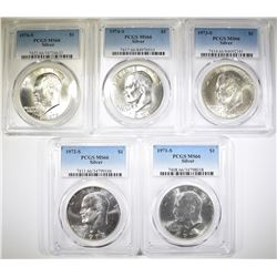 5 PCGS MS-66 SILVER EISENHOWER DOLLARS