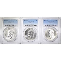 3 PCSG MS-67 SILVER EISENHOWER DOLLARS