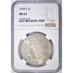 1878-S MORGAN DOLLAR  NGC MS-62