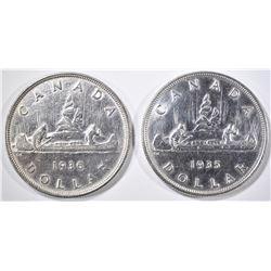 1935 CANADA SILVER DOLLAR GEM BU &