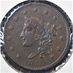 1835 LARGE CENT, XF/AU