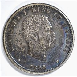 1883 HAWAII QUARTER XF
