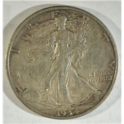 1934-S WALKING LIBERTY AU