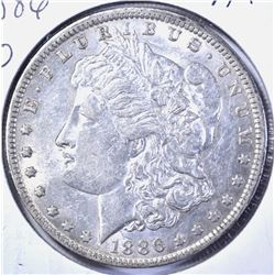 1886-O MORGAN DOLLAR, AU