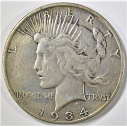 1934-S PEACE DOLLAR VF