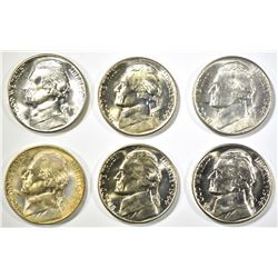 6-1944-D BU SILVER JEFFERSON NICKELS