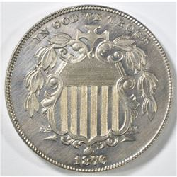 1876 SHIELD NICKEL  GEM PR