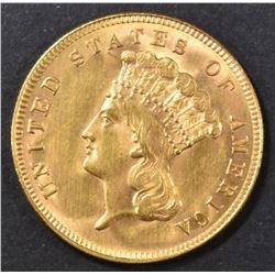 1888 $3 GOLD INDIAN PRINCESS  CH/GEM BU