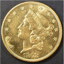 1872 $20 GOLD LIBERTY HEAD  CH BU