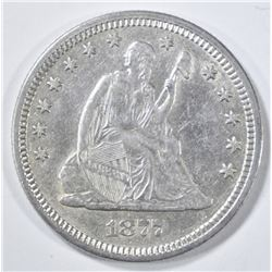 1877 SEATED LIBERTY QUARTER   AU