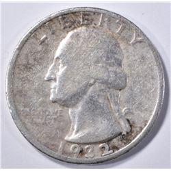 1932-D WASHINGTON QUARTER, VF