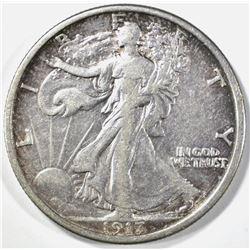 1917-D REVERSE WALKING LIBERTY HALF DOLLAR XF/AU