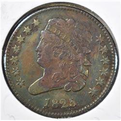 1825 HALF CENT  VF
