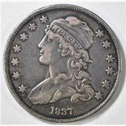 1837 BUST QUARTER XF
