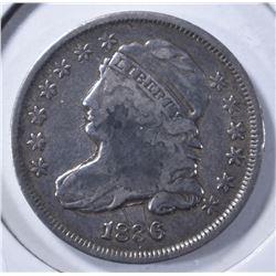 1836 BUST DIME, VF