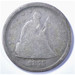 1875-S TWENTY CENT PIECE G/VG