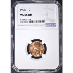 1926 LINCOLN CENT NGC MS-66 RD
