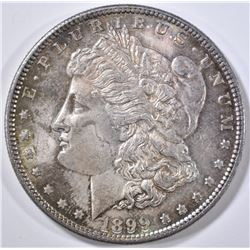 1899 MORGAN DOLLAR  CH BU  COLOR