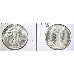 1943 & 45-S WALKING LIBERTY HALF DOLLARS: