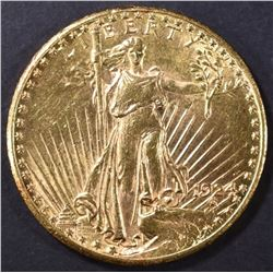 1924 $20 GOLD ST. GAUDENS CH BU
