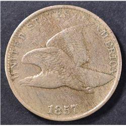 1857 FLYING EAGLE CENT VF