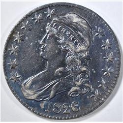 1826 BUST HALF DOLLAR AU COLOR