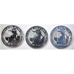 3-2019 1oz SILVER BRITISH BRITANNIA COINS