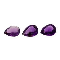 13.11 ctw.Natural Pear Cut Amethyst Parcel of Two