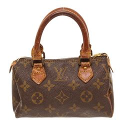 Louis Vuitton Monogram Canvas Leather Mini Speedy Bag
