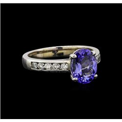 14KT White Gold 2.07 ctw Tanzanite and Diamond Ring